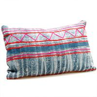 Miao Patterned Bolster Cushion