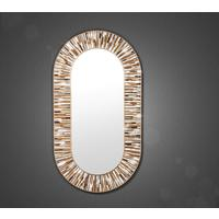 Stadium PIAGGI beige glass mosaic mirror