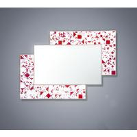 Kaleidoscope PIAGGI maroon glass mosaic mirror by Piaggi