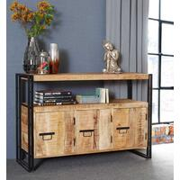 Upcycled Industrial Mintis Sideboard with 3 Doors by Verty furniture