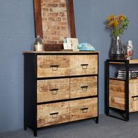 Upcycled Industrial Mintis 6 Drawer Chest