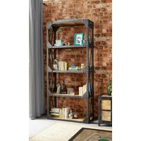 Vintage Industrial Metal and Wood Large Bookcase by Verty furniture