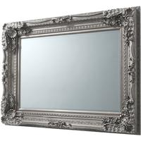 Georgette French Silver Carved Mirror