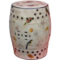 Painted Ceramic Stool by Shimu