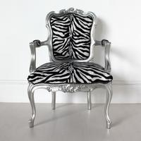 French Zebra Print Chair by Out There Interiors