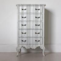 Ripple French-Style Five Drawer Tallboy Chest