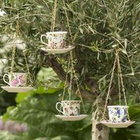 Ceramic Teacup And Saucer Birdfeeder by The Orchard