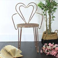 Distressed Heart Chair