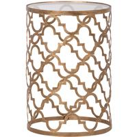 Ethnic Side Table with Glass Top by Out There Interiors