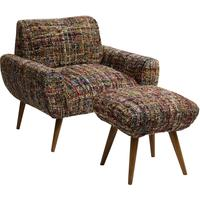 Chindi Armchair and Footstool