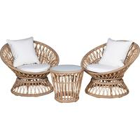 Rattan Balcony Set in Brown by Out There Interiors