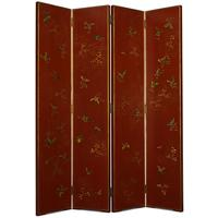Shanxi Butterfly Screen, Red Lacquer by Shimu