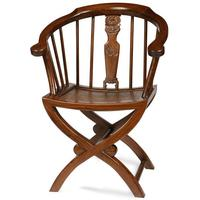 Cross Legged Armchair, Warm Elm