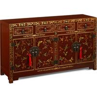 Shanxi Butterfly Sideboard, Red Lacquer by Shimu
