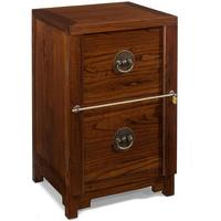 Two Drawer Filing Cabinet, Warm Elm