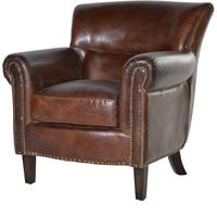 Vintage Leather Armchair by The Orchard
