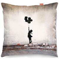 Banksy Balloons Sofa Cushion - 2 Sizes by Red Candy