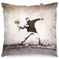 Banksy Thug Flowers Sofa Cushion