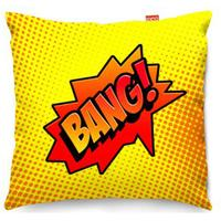 Comic Bang Yellow Sofa Cushion - 2 Sizes by Red Candy