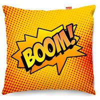 Comic Boom Orange Sofa Cushion