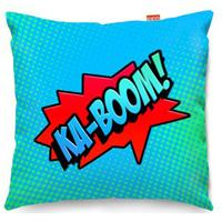 Comic Ka-Boom Blue Sofa Cushion