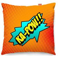Comic Ka-Pow Orange Sofa Cushion