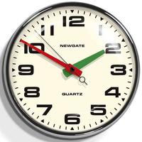Newgate Brixton Wall Clock (Chrome)