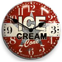 Newgate Ice Cream Advertising Wall Clock by Red Candy