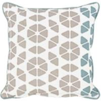 Small Trio Cushion 45 x 45cm, Grey and Blue