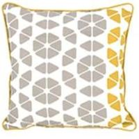 Trio Cushion 45 x 45cm, Grey and Mustard