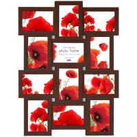 Maggiore IX Multi Photo Frame - Espresso by Red Candy