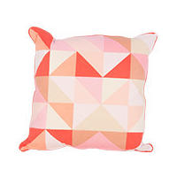 Sports Luxe Geo Cushion 45 x45cm, Red