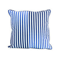Sports Luxe Stripe Cushion 45 x45cm, Blue
