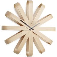 Umbra Ribbonwood Wall Clock by Red Candy