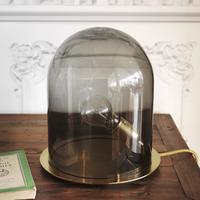 Rowan 'Glow in a Dome' Smokey Grey Lamp
