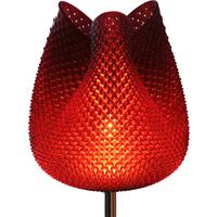 Tulip Table Lamp - Rippled Terra cotta 40cm