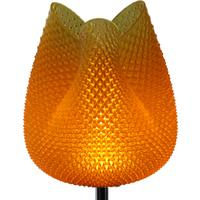 Tulip Table Lamp - Rippled Amber 47cm
