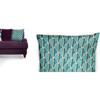 Novello Scatter Cushion 50 x 50cm, Teal and Gold