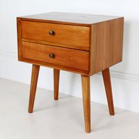 Wooden Two Drawer Bedside