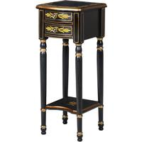 Antique Slim Black Side Table