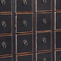 Large Black Chinese Chest of Drawers