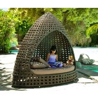 Oriel Ocean Wave Outdoor Relax Hut With Cushion