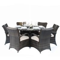 Saba Round Rattan Table And Chairs