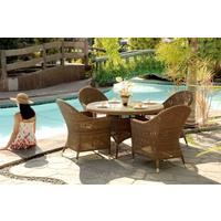Salama San Marino Outdoor Table With Glass