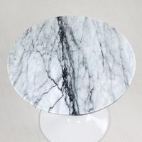 Tulip Table White Marble - White