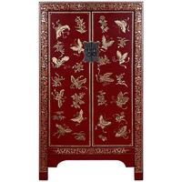 Medium Classic Decorated Chinese Cabinet - Red