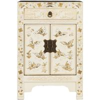 White Decorated Chinese Cabinet  Small