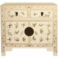 White Gilt Decorated Medium Classic Chinese Sideboard