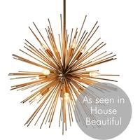 Gold Starburst Pendant Lamp
