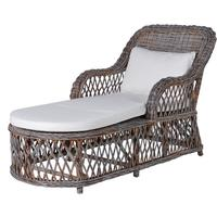 Retro Rattan Lounger - Grey by Out There Interiors